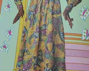 1969 Vintage VOGUE Sewing Pattern DRESS B36 (1781) Vogue 7630