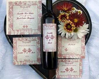 Shabby Chic Wedding Reply Card