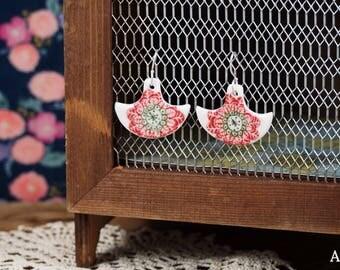 Earrings ethnic - porcelain