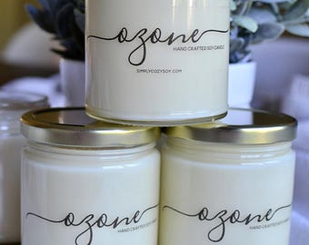 ozone - hand poured soy candle
