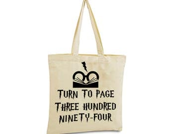 Harry Potter Tote Bag Severus Snape Turn to Page 394 Alan Rickman Hogwarts Book Bag Gryffindor fantastic beasts and where to find them Gift