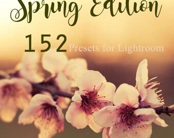 NEW ! The Spring Edition ! 152 Lightroom Presets for LR 4,5,6 & CC