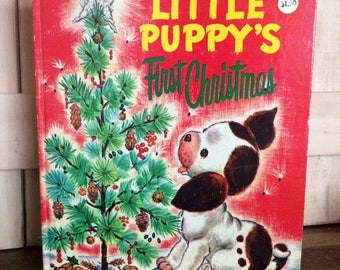 1973 The Poky Little Puppy's First Christmas Big Golden Book