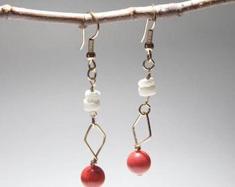 core coral earrings