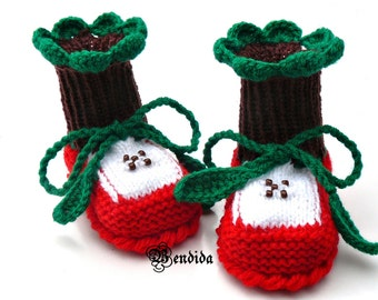 Knitted Baby Shoes, Crochet Baby Booties, Baby Girl Boots, Baby Girl Shoes, Newborn Booties, Infant Shoes, Red Baby Booties, Knit Baby Socks