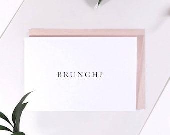 Brunch? Greetings Card. Birthday. Invitation