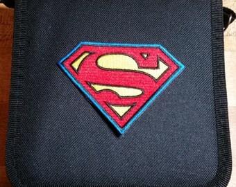 Superman Logo Superhero Comic Inspired Trading Pin Bag (iheartpinbags.com)