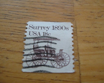 Surrey 1890s usa 18 cent stamp