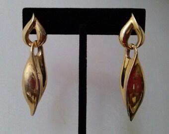 Vintage Gold Door Knocker Earrings, Dangle Earrings, Drop Earrings, Long Earrings, Accessories, Boutique, Fashion Jewelry