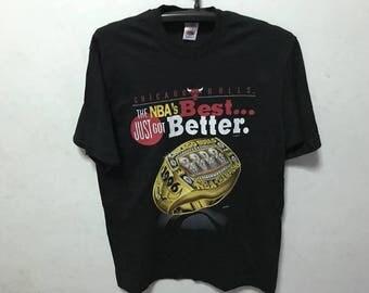 Vintage Chicago Bulls Shirt Size M Free Shipping Chicago Bulls Rings 1996 NBA BasketBall Shirt