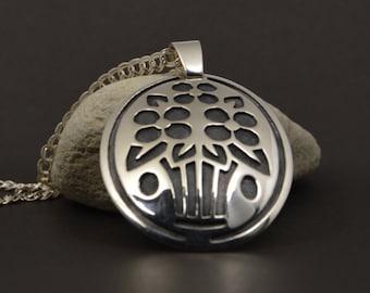 Fine silver jewelry, silver pendant, handmade pendant, art jewelry, unique jewelry, artistic silver necklace