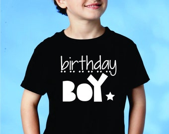 Kids Birthday Shirt, Birthday Boy Tshirt, Youth Boys Birthday Clothes, Baby Boys Birthday Outfit, Boys Clothes, Kids Clothing