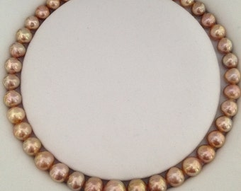 Metallic Luster Edison Pearl Necklace