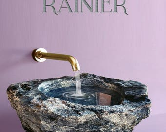 RAINIER - Handcrafted Luxury Stone Vessel Bathroom Sink