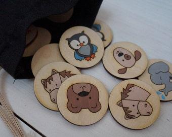 Memory Game, Matching Game, Learning Game, Montessori Game, Wooden Game, Learning Toys, Wooden Toddler Toys, Todler Game