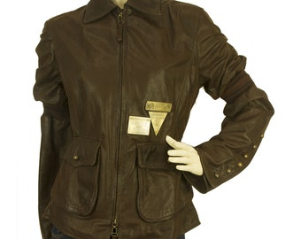 Gianfranco Ferre Runway Brown Leather Jacket