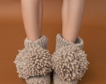 The Jean Slipper Booties knitting kit