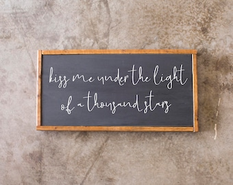 Wood Sign - Thinking Out Loud - Rustic, Wedding, Anniversary, Gift, 12x24""