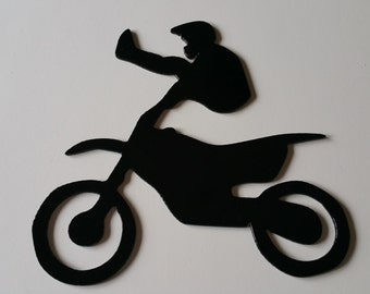 Dirtbike metal art, dirtbike wall hanging, dirtbike art, motocross metal art, motocross art, dirtbike rider, motocross rider