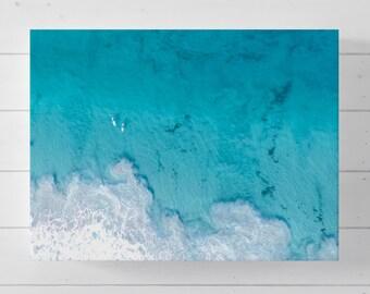 Big Blue - Canvas Print, Wall Art, Drone, Aerial, Photography, Home Decor, Ocean, Beach, Poster