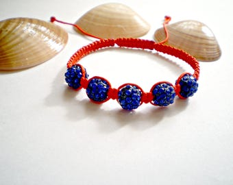 Red bracelet Red Shamballa Bracelet Red Macrame Bracelet Friendship Bracelet Braided Bracelet Red String Kabbalah Bracelet buddhist bracelet