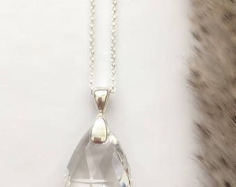 Crystal Necklace, Healing Crystal, Crystal Pendant, Crystal Jewelry, Swarovski Crystal, Stylish Necklace, Statement Necklace, Gift for Her