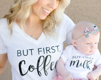 matching shirts, mommy and me shirts, mommy and me matching sets, mother daughter matching outfits, mommy and me clothing, Mom baby t shirt