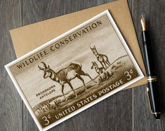 Antelope cards, antelope gifts, animal greeting cards, hunter gifts, hunter cards, hunting gifts, lodge art, wildlife cards, animal card set