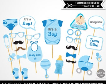 BabyShower It's a Boy PhotoBooth Pops, It's a boy PhotoBooth Props, It's a boy Props, BabyShower PhotoBooth Props, Baby Boy PhotoBooth