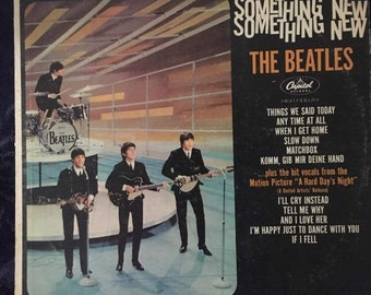 FREE SHIPPING Vintage The Beatles Something New Vinyl Record Album (1964)