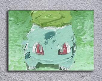 Bulbasaur Pokemon Framed Painting Print
