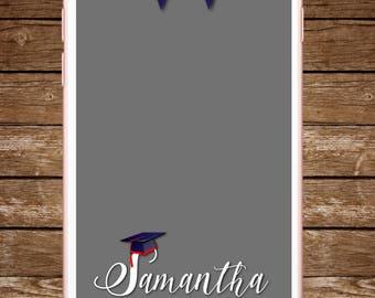 Graduation School Colors Snapchat Filter, Graduation Geofilter