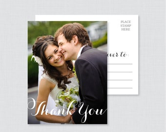 Printable OR Printed Wedding Thank You Postcards - Photo Thank You Postcards for Wedding - Photo Postcards with Picture 0003