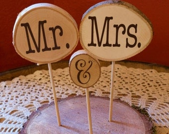 Wooden Wedding Cake Topper