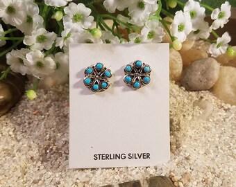 Zuni Snake Eye Turquoise Earrings
