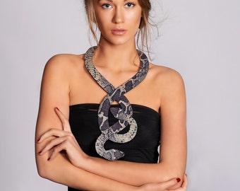 SALE, Snake necklace, Snake Jewelry, Elegant handmade snake, BDSM, Fashion accessories, snake jewelry, snake pendant, , Bib necklace