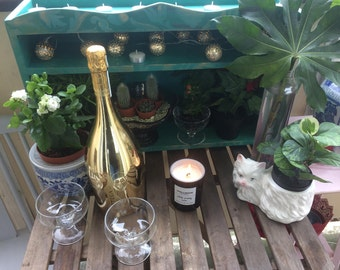 SOLD! Botanical Green Garden / Balcony Plant Stand Selfing Display