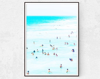 Beach Print, Sea Poster, Ocean Wall Art, Scandinavian Decor, Beach Wall Art, Portrait Photography, Nautical Pictures, Instant Download, Home