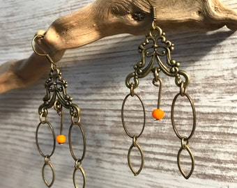 Earrings Baroque bronze