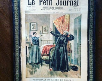 Antique French newspaper. Le Petit Journal. Supplément illustré. XIXe siecle. Color Illustrations. Ephemera. Old papers.