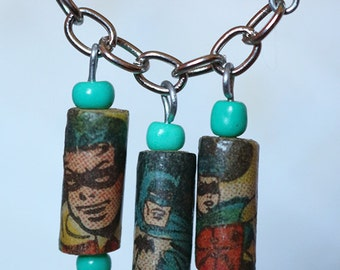 Batman Comic Book Necklace