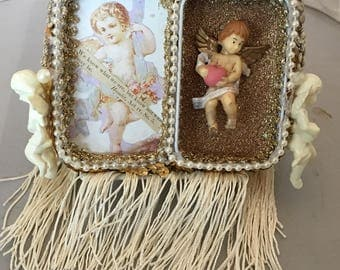 Guardian Angel Altoid tin assemblage