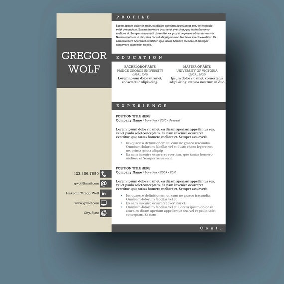 male resume template two page cover letter use with