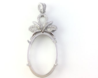 Sterling Silver Pendant ,Fine Silver Jewelry