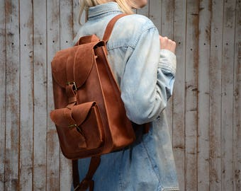 Leather backpack,  leather bag , Leather Rucksack. leather backpack women, wommens leather backpack, school backpack,leather backpack women