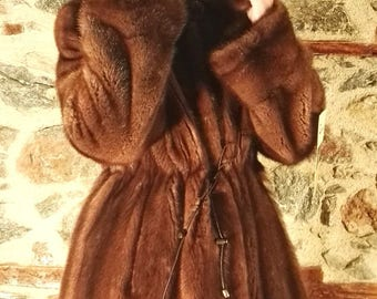 Mink fur coat with hood! Latest fur fashion trends at FurBrand!