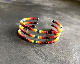 Lakota Beaded Cuff Bracelet
