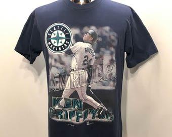 1997 Ken GRIFFEY Jr Seattle MARINERS The Kid MLB T Shirt Mens Size Medium