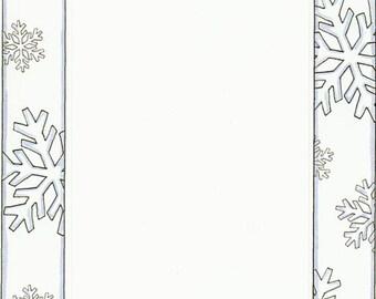 Winter Snowflakes Cardstock Frame My Mind's Eye Frame Up's Scrapbook  Embellishments Cardmaking Crafts