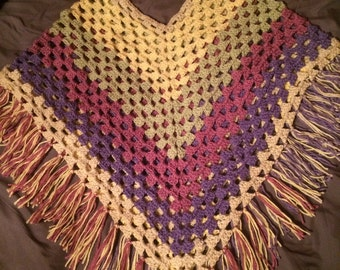Women's Crocheted Poncho
